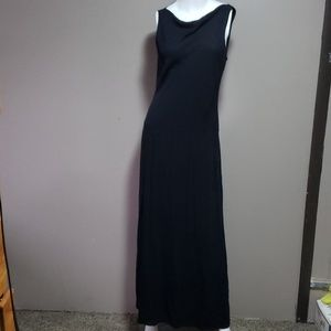 Ralph Lauren  Black Scoop Neck Maxi Dress Sz 10